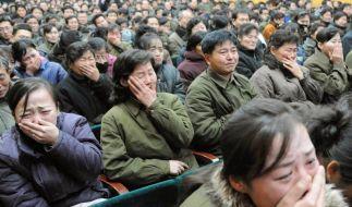 Wirklicher Schmerz oder perfekte Inszenierung? Nordkorea trauert um Machthaber Kim Jong Il. (Foto)