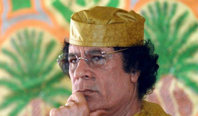 Wirre Drohungen von Oberst Gaddafi (Foto)