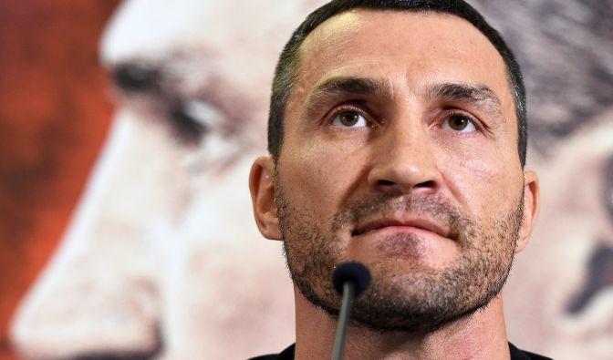 Wladimir Klitschko auf einer Pressekonferenz. (Foto)