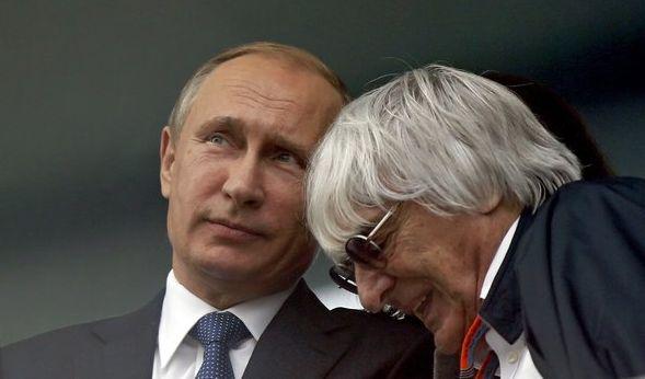 Wladimir Putin und Bernie Ecclestone verstehen sich bestens. (Foto)