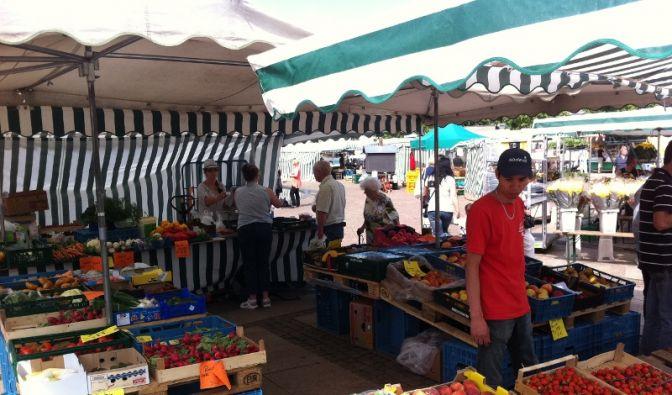 Wochenmarkt in Leipzig (Foto)