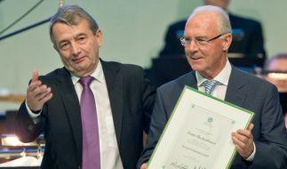 Wolfgang Niersbach und Franz Beckenbauer im Visier der FIFA. (Foto)