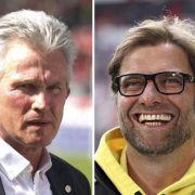 Wollen es Jupp Heynckes und Jürgen Klopp bei der Generalprobe ruhig angehen lassen? Wie soll das gehen?