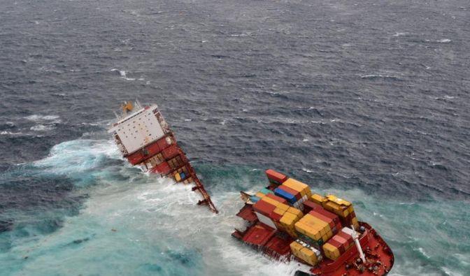 Wrack vor Neuseeland auseinandergebrochen (Foto)