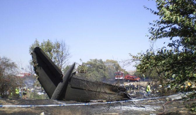 Wrackteile der abgestürzten Spanair-Maschine. (Foto)