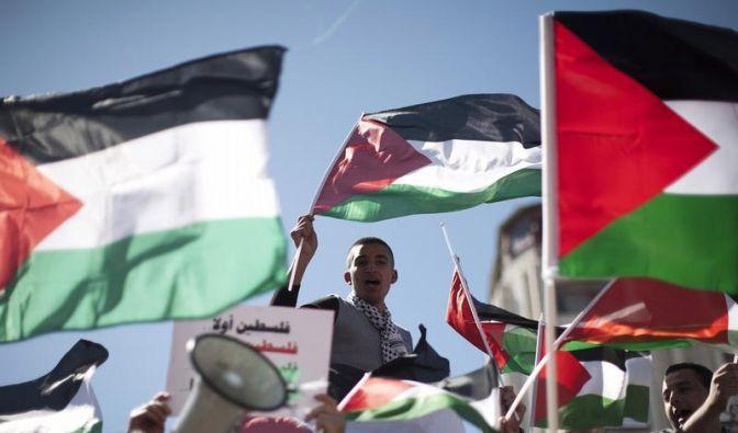 Zehntausende Palästinenser fordern Einheit (Foto)