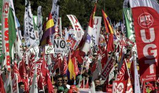 Zehntausende protestieren gegen spanische Sparpolitik (Foto)