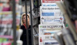 Zeitungen vor Streik (Foto)