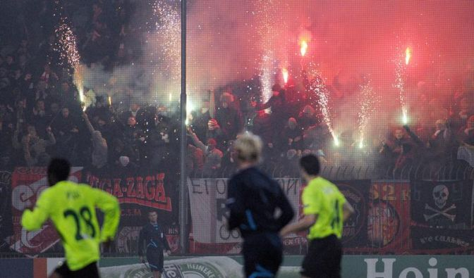 Zilina gegen Spartak 22 Minuten lang unterbrochen (Foto)
