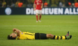 Zog sich im DFB-Pokalfinale, gegen seinen neuen Verein Bayern München, einen kleinen Muskelfaserriss in der Wade zu: Mats Hummels. (Foto)