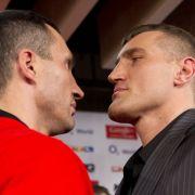 Zu Gegner Mariusz Wach muss Wladimir Klitschko erstmals aufschauen.