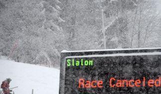 Zu viel Schnee: Damen-Slalom verschoben (Foto)