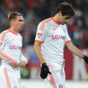 Zuerst hängende Köpfe nach dem Remis gegen Nürnberg. Doch nach dem Patzer der Schalker wurde die Stimmung besser.