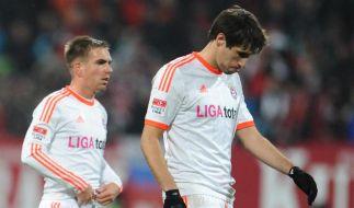 Zuerst hängende Köpfe nach dem Remis gegen Nürnberg. Doch nach dem Patzer der Schalker wurde die Stimmung besser. (Foto)