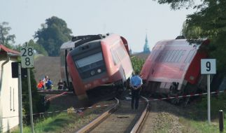 Zugunglück in Sachsen (Foto)