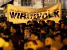 """Zum Jahrestag der fremdenfeindlichen Organisation """"Pegida"""" am 19.10.2015 werden Zehntausende Demonstranten und Gegendemonstranten erwartet. (Foto)"""