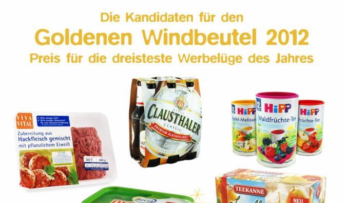 Zum vierten Mal hatte die Verbraucherschutzorganisation Foodwatch zur Wahl des Goldenen Windbeutels für die dreisteste Lebensmittel-Lüge aufgerufen. (Foto)