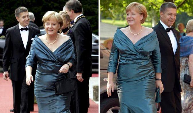 Zwei Mal Bayreuth Angela Merkel im Jahr 2008 (links) und im Jahr 2012. (Foto)