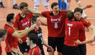 Zweiter Weltliga-Sieg für Volleyballer (Foto)