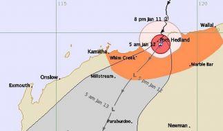 Zyklon «Heidi» erreicht australische Westküste (Foto)