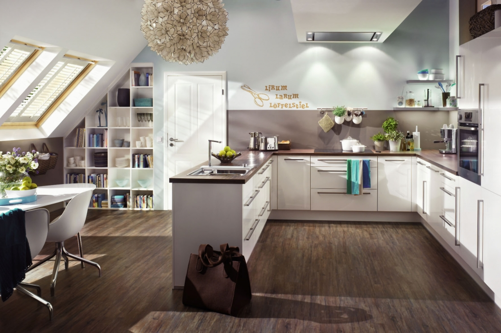 Bei Einer Guten Planung Lässt Sich Das Obergeschoss Auch Zu Einer  Gemütlichen Küche Umbauen.