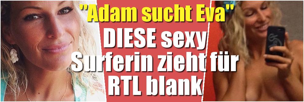 """""""Adam sucht Eva"""" 2016 mit Janni Hönscheid: DIESE sexy Surferin zieht sich für die RTL-Nackt-Show aus (Foto)"""