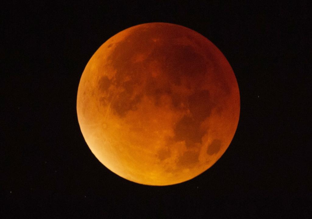 Mondfinsternis Am 31012018 Blaumond Leuchtete Als Super Blutmond