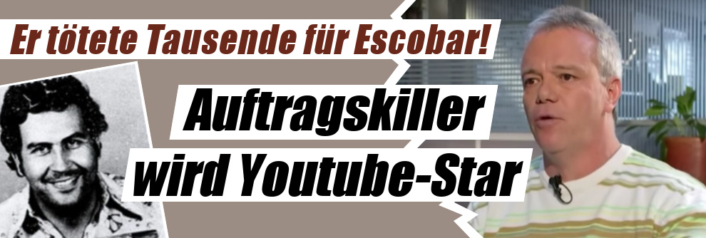 Er tötete Tausende für Pablo Escobar!: Nach mehr als 3.000 Morden! Auftragskiller wird zum Youtube-Star (Foto)
