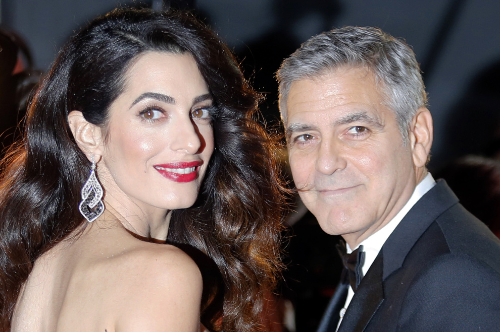 amal und george clooney dieser hollywood star soll patenonkel ihrer zwillinge werden. Black Bedroom Furniture Sets. Home Design Ideas