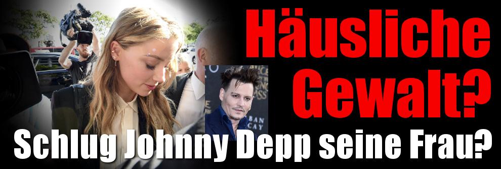 Scheidung von Amber Heard: Häusliche Gewalt!? Schlug Johnny Depp seine Frau? (Foto)