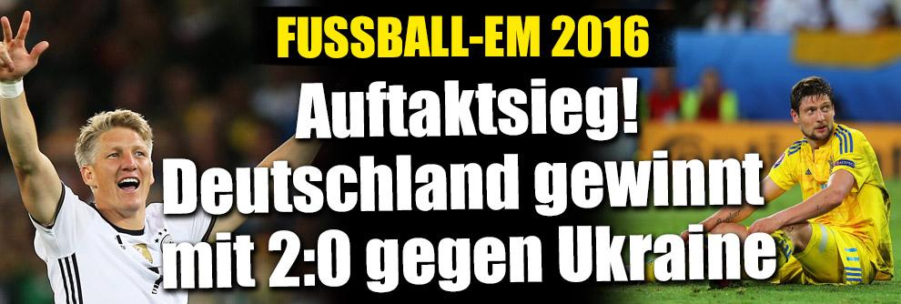 Fußball-EM 2016 Gruppe C: Deutschland punktet 2:0 gegen die Ukraine (Foto)