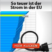 Strompreise im EU-Vergleich
