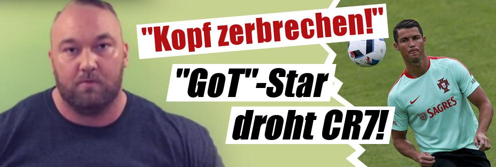 "Hafþór Júlíus Björnsson als ""The Mountain"": GoT-Star will Cristiano Ronaldos ""Kopf zerbrechen"" (Foto)"