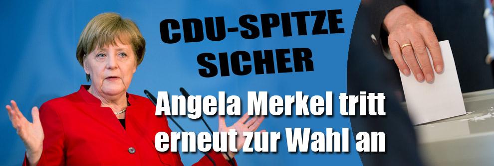 Bundestagswahlen 2017: CDU-Spitze sicher: Angela Merkel tritt zur Wiederwahl an (Foto)