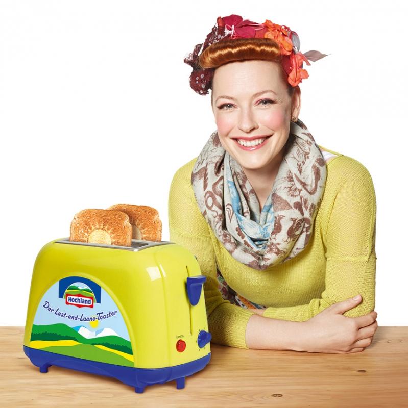 hochland toaster enie van de meiklokjes f hrt sie zum sieg. Black Bedroom Furniture Sets. Home Design Ideas