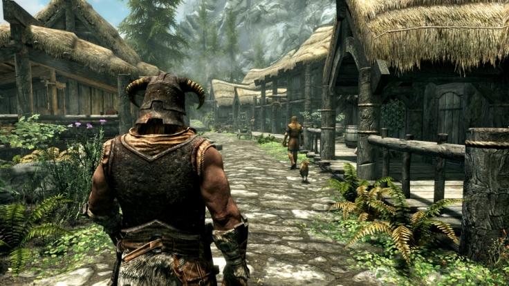 """Endlich wieder Himmelsrand! Mit der """"Skyrim""""-Special Edition versetzt Entwicklerstudio Bethesda den Spieler wieder in die Welt der Drachen und Dungeons. (Foto)"""