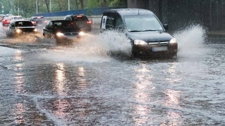Starkregen sorgte in Sachsen-Anhalt für Überschwemmungen. (Foto)
