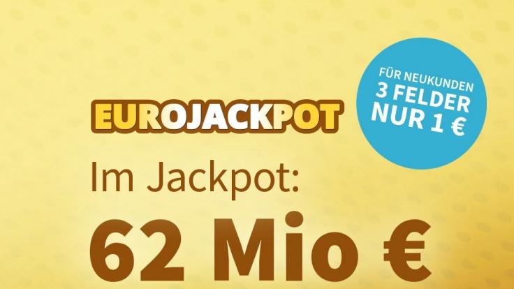 Am Freitag, 14.05.2021, liegen 62 Millionen € im Jackpot beim Eurolotto (Foto)