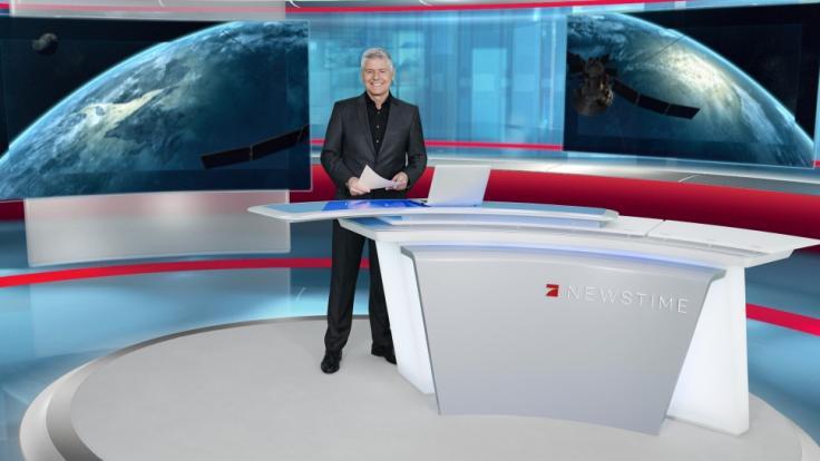 "Michael Marx im ""ProSieben Newstime""-Studio. (Foto)"