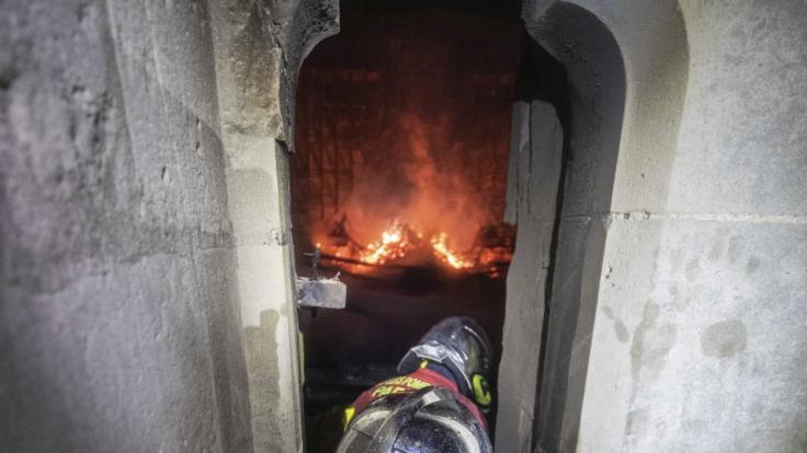 Das Holz in Notre-Dame war durch sein Alter sehr trocken und damit leicht brennbar. (Foto)
