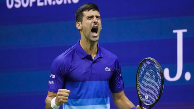 Novak Djokovic steht im Finale der US-Open 2021. (Foto)