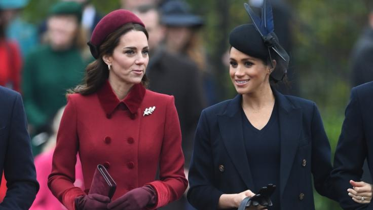 Zwischen Herzogin Kate und Meghan Markle soll der Zickenkrieg beigelegt sein.