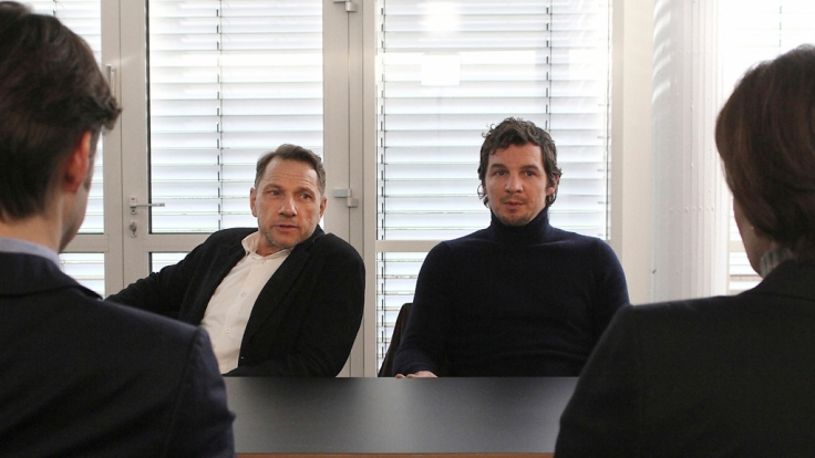 """Die Kommissare Thorsten Lannert (Richy Müller) und Sebastian Bootz (Felix Klare) im Stuttgarter """"Tatort: HAL"""". (Foto)"""