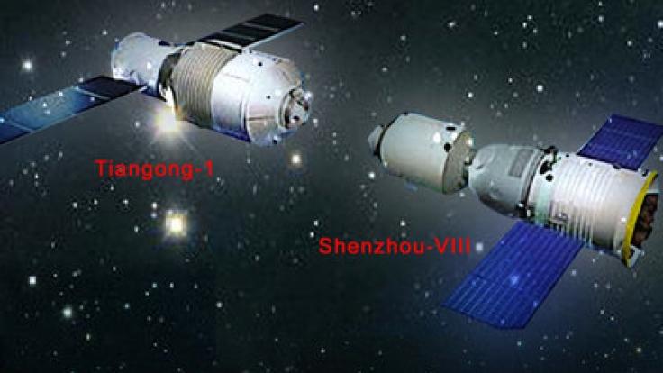 """""""Tiangong-1"""" - übersetzt """"Himmelspalast"""" -ist 8,5 Tonnen schwer. (Foto)"""