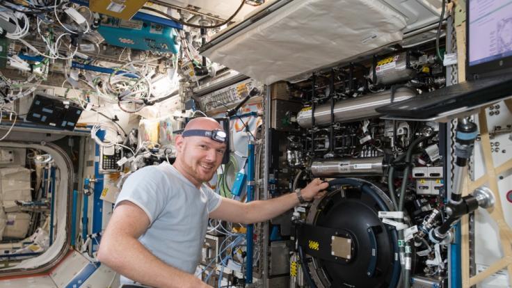 Astronauten Alexander Gerst auf der Internationalen Raumstation ISS.