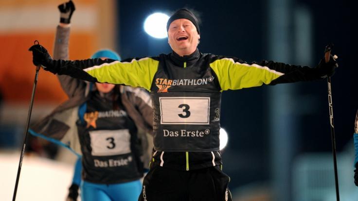 Sven Plöger kommt am 09.01.2013 in Ruhpolding (Bayern) beim