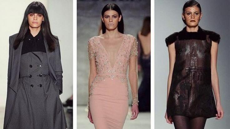 Alisar Ailabouni auf der New York Fashion Week. (Foto)