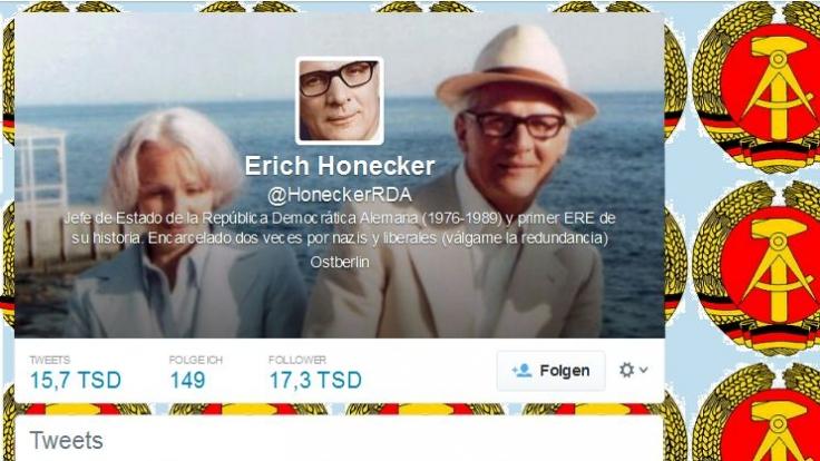 Unermüdlich twittert Erich Honecker aus Ostberlin.