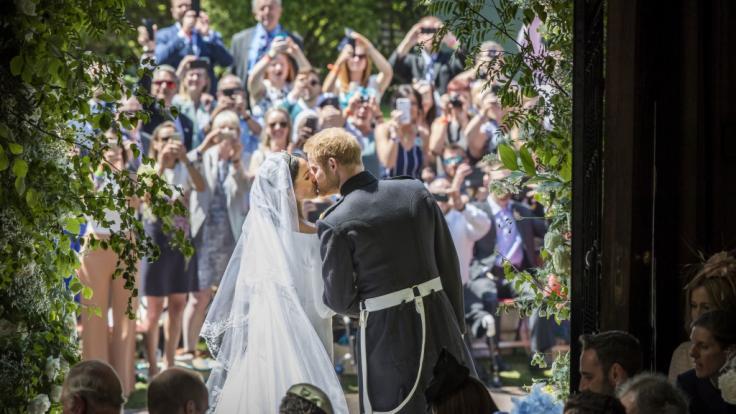 Meghan Markle und Prinz Harry bei ihrer Hochzeit vor 2 Jahren in Windsor, am 19. Mai 2018. (Foto)