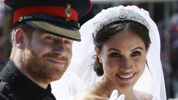 Meghan Markle trug das Diadem von Queen Mary bei ihrer Hochzeit.